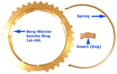 DATSUN ROADSTER BORG WARNER SYNCHRO PARTS